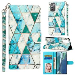 Stitching Marble 3D Leather Phone Holster Wallet Case for Samsung Galaxy Note 20