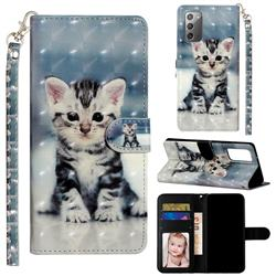 Kitten Cat 3D Leather Phone Holster Wallet Case for Samsung Galaxy Note 20