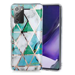 Green White Galvanized Rose Gold Marble Phone Back Cover for Samsung Galaxy Note 20