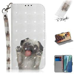 Pug Dog 3D Painted Leather Wallet Phone Case for Samsung Galaxy Note 20