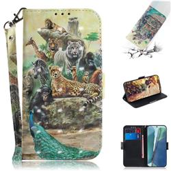 Beast Zoo 3D Painted Leather Wallet Phone Case for Samsung Galaxy Note 20