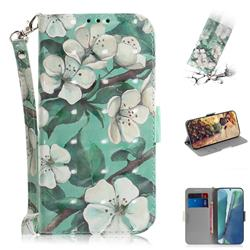 Watercolor Flower 3D Painted Leather Wallet Phone Case for Samsung Galaxy Note 20