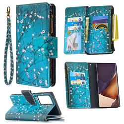 Blue Plum Binfen Color BF03 Retro Zipper Leather Wallet Phone Case for Samsung Galaxy Note 20
