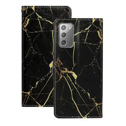 Black Gold Marble PU Leather Wallet Case for Samsung Galaxy Note 20