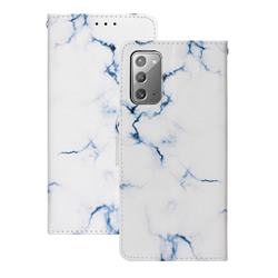 Soft White Marble PU Leather Wallet Case for Samsung Galaxy Note 20
