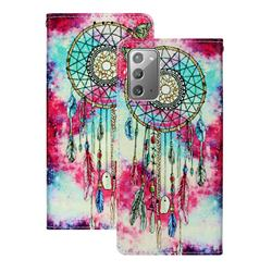 Butterfly Chimes PU Leather Wallet Case for Samsung Galaxy Note 20