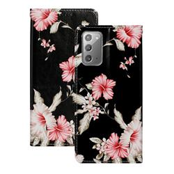 Azalea Flower PU Leather Wallet Case for Samsung Galaxy Note 20