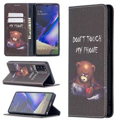 Chainsaw Bear Slim Magnetic Attraction Wallet Flip Cover for Samsung Galaxy Note 20