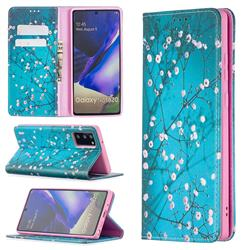 Plum Blossom Slim Magnetic Attraction Wallet Flip Cover for Samsung Galaxy Note 20