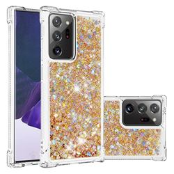 Dynamic Liquid Glitter Sand Quicksand TPU Case for Samsung Galaxy Note 20 Ultra - Rose Gold Love Heart