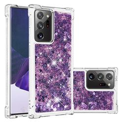Dynamic Liquid Glitter Sand Quicksand Star TPU Case for Samsung Galaxy Note 20 Ultra - Purple