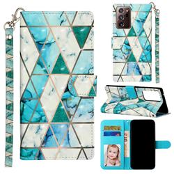 Stitching Marble 3D Leather Phone Holster Wallet Case for Samsung Galaxy Note 20 Ultra