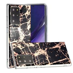 Black Galvanized Rose Gold Marble Phone Back Cover for Samsung Galaxy Note 20 Ultra