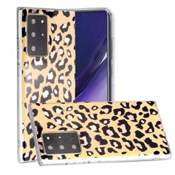 Leopard Galvanized Rose Gold Marble Phone Back Cover for Samsung Galaxy Note 20 Ultra