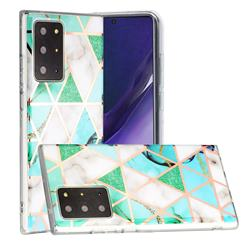 Green White Galvanized Rose Gold Marble Phone Back Cover for Samsung Galaxy Note 20 Ultra