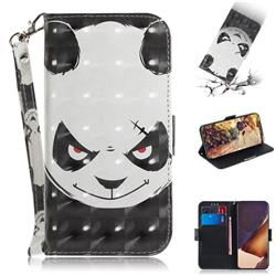 Angry Bear 3D Painted Leather Wallet Phone Case for Samsung Galaxy Note 20 Ultra