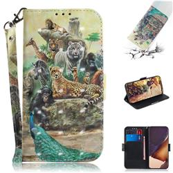 Beast Zoo 3D Painted Leather Wallet Phone Case for Samsung Galaxy Note 20 Ultra