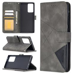 Binfen Color BF05 Prismatic Slim Wallet Flip Cover for Samsung Galaxy Note 20 Ultra - Gray