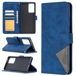Binfen Color BF05 Prismatic Slim Wallet Flip Cover for Samsung Galaxy Note 20 Ultra - Blue