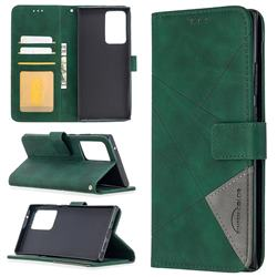 Binfen Color BF05 Prismatic Slim Wallet Flip Cover for Samsung Galaxy Note 20 Ultra - Green