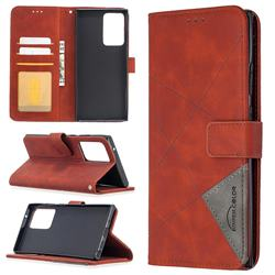 Binfen Color BF05 Prismatic Slim Wallet Flip Cover for Samsung Galaxy Note 20 Ultra - Brown