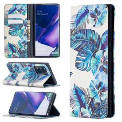 Blue Leaf Slim Magnetic Attraction Wallet Flip Cover for Samsung Galaxy Note 20 Ultra