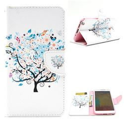 Colorful Tree Leather Wallet Case for Samsung Galaxy Note 3 N9000 N9005
