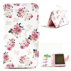 Eastern Roses Leather Wallet Case for Samsung Galaxy Note 3 N9000 N9005