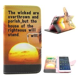 The Sunset Leather Wallet Case for Samsung Galaxy Note 3 N9000 N9005