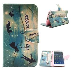 Green Dream Leather Wallet Case for Samsung Galaxy Note 3 N9000 N9005