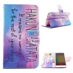 Sky Hakuna Matata Leather Wallet Case for Samsung Galaxy Note 3 N9000 N9005