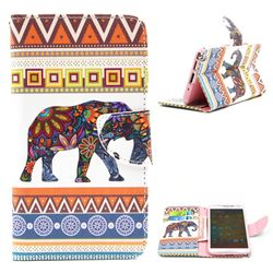 Tribal Elephant Leather Wallet Case for Samsung Galaxy Note 3 N9000 N9005