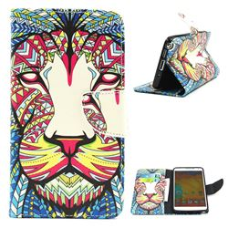 Lion Leather Wallet Case for Samsung Galaxy Note 3 N9000 N9005