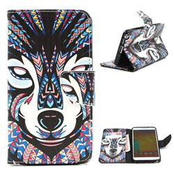 Wolf Leather Wallet Case for Samsung Galaxy Note 3 N9000 N9005