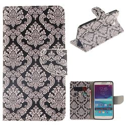 Totem Flowers PU Leather Wallet Case for Samsung Galaxy Note4
