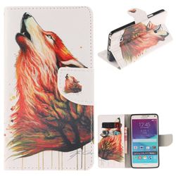 Color Wolf PU Leather Wallet Case for Samsung Galaxy Note4