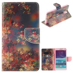 Colored Flowers PU Leather Wallet Case for Samsung Galaxy Note4