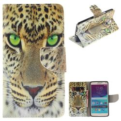 Yellow Tiger PU Leather Wallet Case for Samsung Galaxy Note4