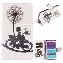 Cycling Dandelion PU Leather Wallet Case for Samsung Galaxy Note4
