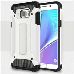 King Kong Armor Premium Shockproof Dual Layer Rugged Hard Cover for Samsung Galaxy Note 5 - White