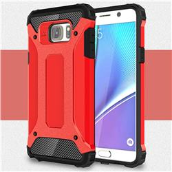 King Kong Armor Premium Shockproof Dual Layer Rugged Hard Cover for Samsung Galaxy Note 5 - Big Red