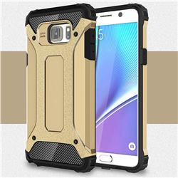 King Kong Armor Premium Shockproof Dual Layer Rugged Hard Cover for Samsung Galaxy Note 5 - Champagne Gold