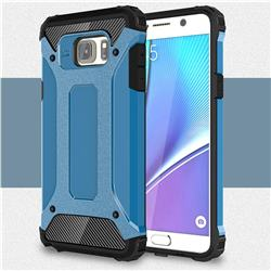 King Kong Armor Premium Shockproof Dual Layer Rugged Hard Cover for Samsung Galaxy Note 5 - Sky Blue