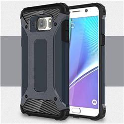 King Kong Armor Premium Shockproof Dual Layer Rugged Hard Cover for Samsung Galaxy Note 5 - Navy