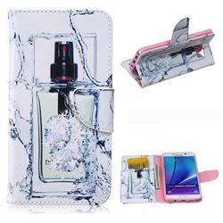 Perfume Bottle Leather Wallet Case for Samsung Galaxy Note 5