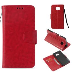 Retro Phantom Smooth PU Leather Wallet Holster Case for Samsung Galaxy Note 5 - Red
