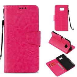 Retro Phantom Smooth PU Leather Wallet Holster Case for Samsung Galaxy Note 5 - Rose