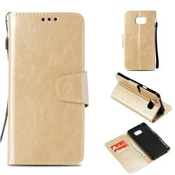 Retro Phantom Smooth PU Leather Wallet Holster Case for Samsung Galaxy Note 5 - Champagne