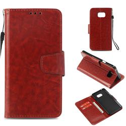 Retro Phantom Smooth PU Leather Wallet Holster Case for Samsung Galaxy Note 5 - Brown