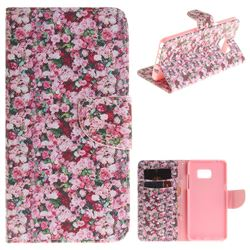 Intensive Floral PU Leather Wallet Case for Samsung Galaxy Note 7